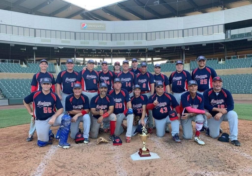 50+ DCMSBL Mustangs Cautus 2020 World Series Champions